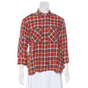 Boy. by Band of Outsiders Plaid Button-Up Top